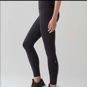 EUC Lululemon Fast & Free 7/8 Reflective Tight